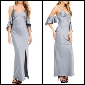 ASTR 💫 Kendra Maxi Dress Silver NWT